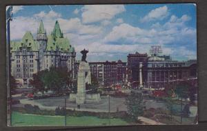Ottawa - View Of Confederation Square 1952 - Large Crease Left To Right