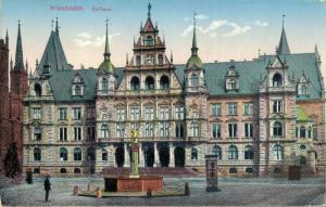 Germany Wiesbaden Marktplatz Rathaus Hauptkirche 02.59