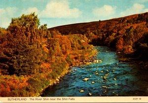 Scotland Sutherland The River Shin Near The Shin Falls
