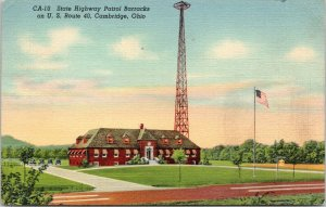 Cambridge Ohio~State Highway Patrol Barracks on US Route 40~National Hwy~1943