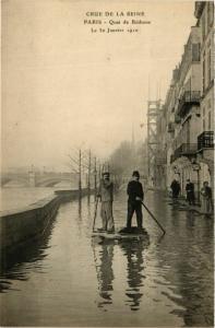 CPA PARIS Crue de la Seine 1910 Quai de Béthune (577837)