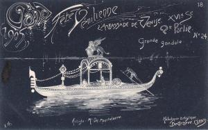 Ville de GAND, Fete Venitienne du 9 Juillet 1905 ; Belgium ; grande gondole
