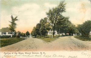 Mount Vernon NH~Ladies Take Dirt Blood Rd~Part Ways w/N Main St (Rt 13) 1907 UDB