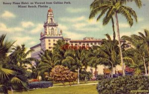 RONEY PLAZA HOTEL, AS VIEWED FROM COLLINS PARK. MIAMI BEACH, FL