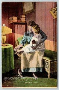 Webb Iowa~A E Birdsall Store~Roseine Pennsylvania Kerosine Adv Postcard~1910