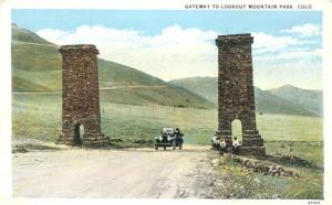 Old Auto at Gateway to Lookout Mountain CO, Colorado - WB