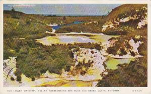 The Lower Waiotapu Valley Overlooking The Blue & Green Lakes, Rotorua, New Ze...