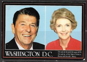 1987 President Ronald Reagan and wife Nacy, 40 th President, mailed