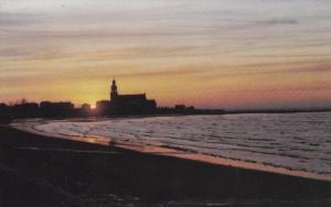 Sunset on Ste. Luce, Beach Shore, BAS SAINT LAURENT, Quebec, Canada, 40-60's