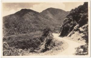 Indian Gap Highway and Bull Head Mountain, Great Smoky Mtn. RPPC