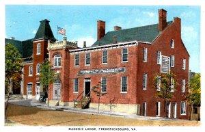 Fredericksburg, Virginia - Masonic Temple - Geo. Washington made Mason here -