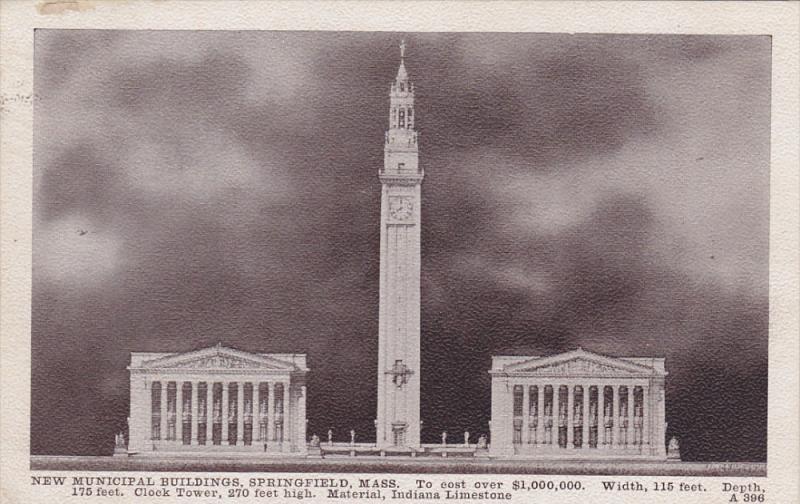 SPRINGFIELD, Massachusetts, PU-1910; New Municipal Buildings