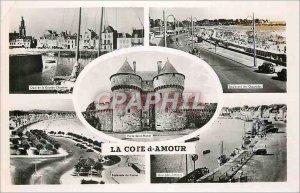 Modern Postcard La Cote d'Amour Porte Saint Michel Le Pouliguen