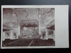 Yorkshire: Harrogate INTERIOR OF THE KURSAAL / STAGE c1903 Pub by Greaves