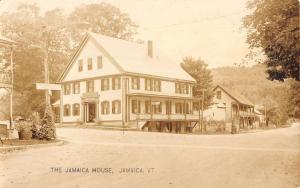 Jamaica Vermont House Inn Street View Real Photo Antique Postcard K15865