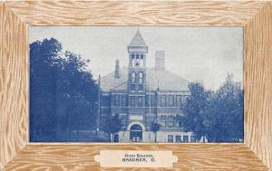 <A3> OHIO Oh Postcard 1914 BRADNER High School Building
