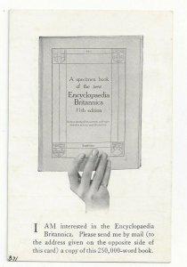 Order Form - Encyclopedia Britannica 11th Edition, Cambridge, 1910-11