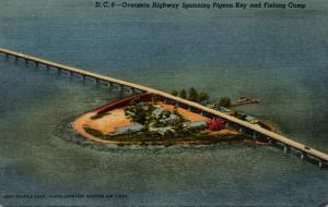 Florida Keys Overseas Highway Spanning Pigeon Key and Fishing Camp Curteich