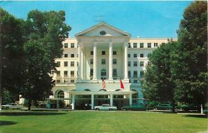 Greenbrier White Sulphur Springs Resort West Virgina WV Postcard old cars
