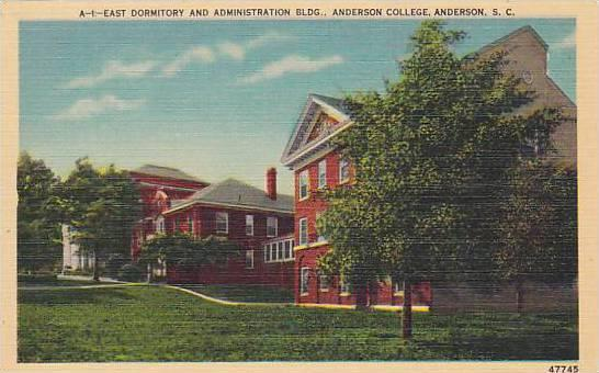 East Dormitory And Administation Building, Anderson College, Anderson, South ...