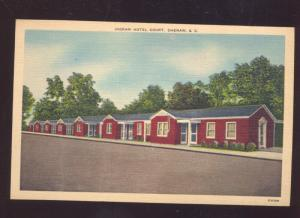 CHERAW SOUTH CAROLINA INGRAM MOTEL COURT LINEN ADVERTISING POSTCARD