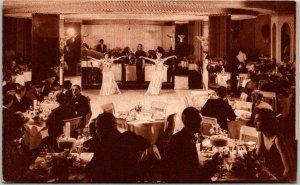 Chicago, Illinois Postcard THE STEVENS HOTEL Nightclub / Show Scene 1940s Unused
