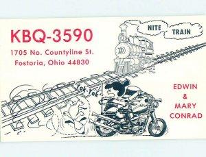 Pre-1980 RADIO CARD - Fostoria - Near Findlay & Fremont & Tiffin OH AH1309