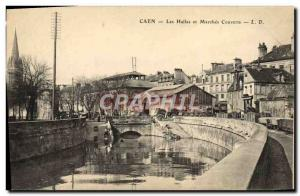 Old Postcard Caen Les Halles and Marche Cutlery