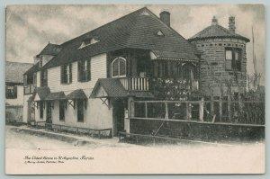Saint Augustine Florida~The Oldest House~c1906 Postcard