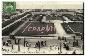 Old Postcard Deauville Gardens and the Baths