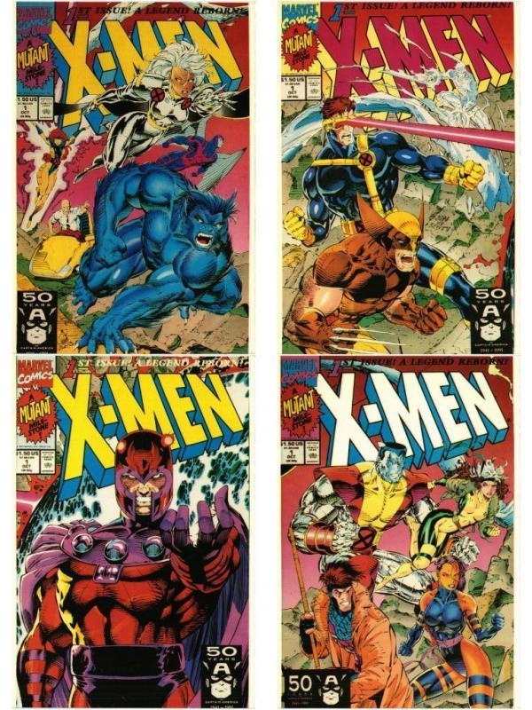 CARTOONS COMIC MARVEL 1991 X-MEN & SPIDERMAN 10 CP