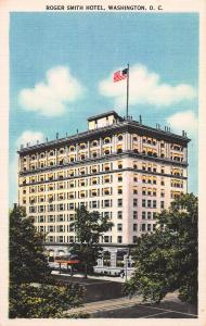 Roger Smith Hotel, Washington, D.C., Early Linen Postcard, Unused