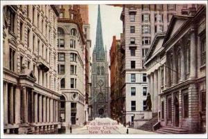 Wall St. & Trinity Church NYC