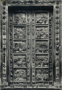 Italy Florence the baptistery the door of the paradis ghiberti Postcard