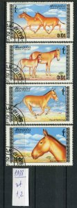 266215 MONGOLIA 1988 year used stamps set horses