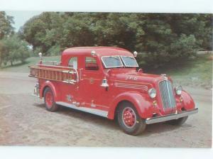 1977 Postcard THE 1939 SEAGRAVE ANTIQUE FIRE ENGINE AC6151