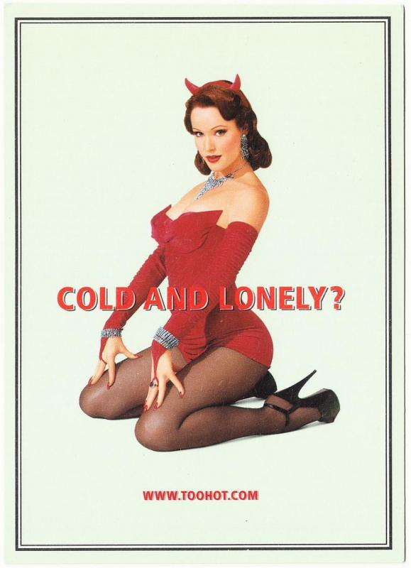 Altoids Mints Cold and Lonely Pinup Decal Postcard 1990s-2000s