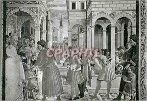 Postcard Modern Citta di S Gimignano (Siena) Church of St. Augustine