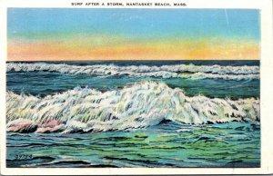 Massachusetts Nantasket Beach Surf After A Storm