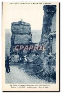 The Old Road and the Victor Emmanuel II monument - Old Postcard