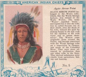 TC: RED MAN Chewing Tobacco Trade Card , 1890s ; American Indian Chiefs ; AGA...