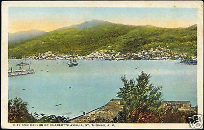 St. Thomas, V.I., CHARLOTTE AMALIA, Panorama (1930s)