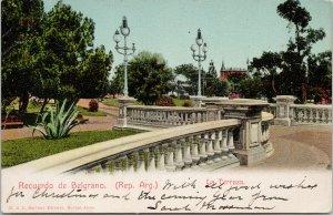 Recuerdo de Belgrado Argentina La Terraza w/ Stamp Postcard F83