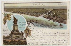 Germany; Gruss Vom National Denkmal, Niederwald PPC, 1904 PMK