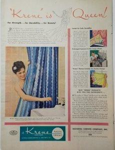 1946 Plastic Shower Curtain Print Ad LIFE Magazine Single Page Color  EXL1035