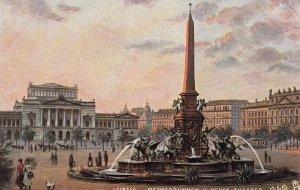 LEIPZIG (Saxony), Germany, 1900-10s : Mendebrunnen u Neues Theater : TUCK 7503