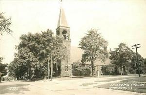 IL, Waukegan, Illinois, RPPC, Episcopal Church
