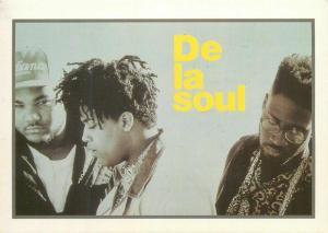 DE LA SOUL American hip hop trio postcard