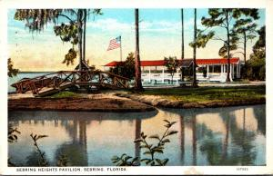 Florida Sebring Sebring Heights Pavilion 1928 Curteich