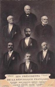 France Les Presidents De La Republique Francaise Late 1800s